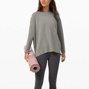 Lululemon Grey Sage Back In Action LS Shirt| 2